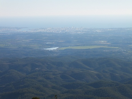 View over Portimao from top of Foia (906m)