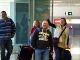Arrival at Malaga airport