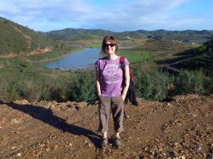 View back towards campsite over Odelouca river