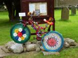 Hardraw Church crochet bikes getting into the swing ready for Le Tour