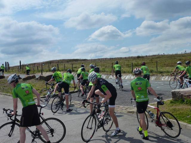 Holme Moss - still full of cyclists