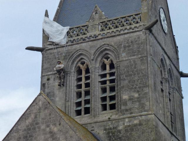 John Steele effigy on the church