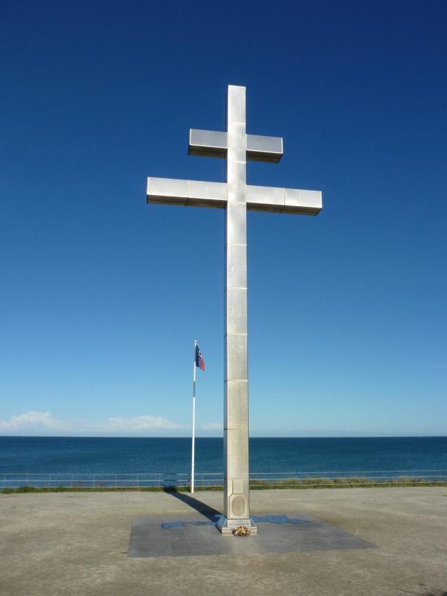 The Cross of Lorraine at Juno Beach